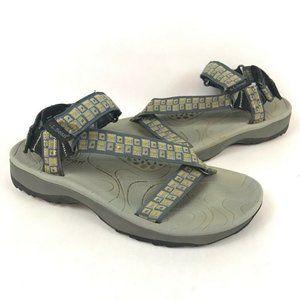 L.L. Bean Womens Sport Sandals Gray Geometric